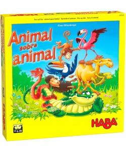 Haba Animal sobre animal-El tambaleante juego de apilar