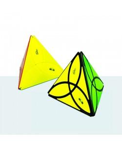 QiYi Clover Pyraminx negro